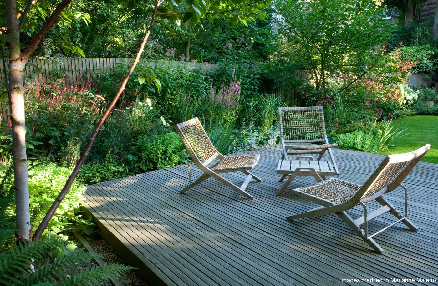 London garden jane brockbank for Garden decking north london